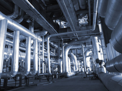 industrial pipes at factory